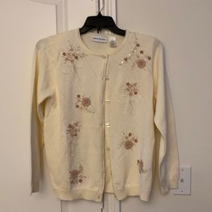 Alfred dunner sweater jacket button down